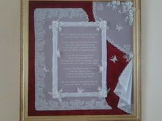 """Poem by Mary G. Frye (1932) called """"A thousand winds"""". Everything was made out of parchment paper. Parchment pattern inspired by one of the Parchment Faries books."""