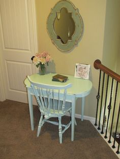 shabby chic desk and chair