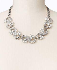 Paisley Stone Drop Necklace   Ann Taylor