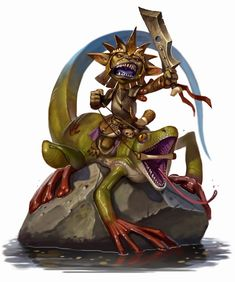The only thing more terrifying than a raging goblin is a raging goblin atop a riding gecko. Many in the frontier have learned to avoid both.