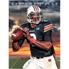 Cam Newton Auburn Tigers Football Poster