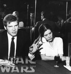 Harry And Carrison : Photo Obsessed with this pic. Harrison Ford & Carrie Fisher promoting Star Wars