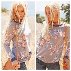 Fall in love with this perfect floral sweater! {Grey Floral Sweater $30}   Comment below with PayPal to purchase and ship or comment for 24 hour hold  #repurposeboutique#loverepurpose#shoprepurpose#boutiquelove#style#trendy#fall