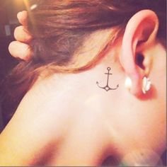 2pcs Thin Heart Anchor tattoo 2 sizes InknArt by InknArt on Etsy