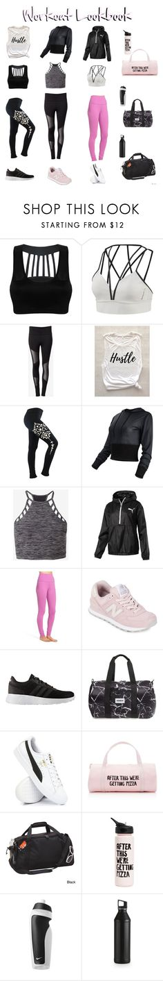 """Workout Wear Under $50"" by samanthametala on Polyvore featuring Reebok, Express, TYR, Zella, New Balance, adidas, Vooray, ban.do, Goodhope Bags and NIKE"