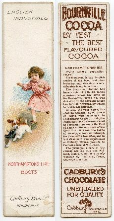 Cadburys - advertises their chocolate and Bournville Cocoa.