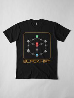 'Deus Ex - Black Hat' T-Shirt by Remus Brailoiu My T Shirt, Tshirt Colors, Cyberpunk, Wardrobe Staples, Female Models, Revolution, Video Game, Classic T Shirts, Shirt Designs