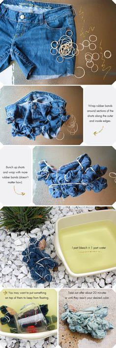 Как выбелить красивый узор на джинсах (DIY)