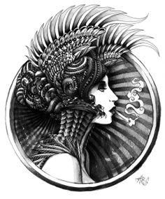 Valkyrie Art Print by BioWorkZ, society6