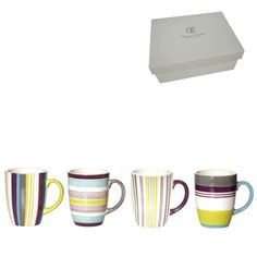 Coffret de 4 mugs faïence Calypso 25 cl