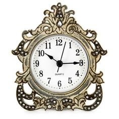 Blue Pewter Table Clock Vintage Eal Timeless Piece Of Decor To Any Room Bath Pinterest Clockantel Shelf
