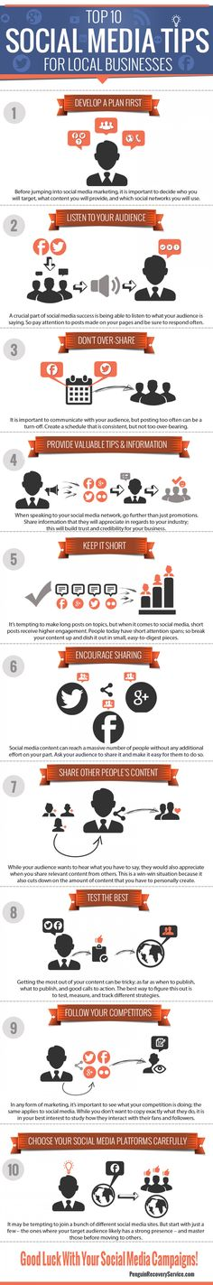 Top 10 Social Media Tips For Local Business #infographic