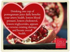 Pomegranate juice benefits are emerging as strong helpers in the health of your heart! #HeartHealth #Superfood