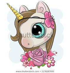 Unicorn Drawing, Cartoon Unicorn, Baby Unicorn, Unicorn Art, Illustration Mignonne, Cute Illustration, Baby Girl Pictures, Cute Pictures, Beautiful Pictures