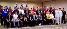 This photo is from ICMAC's 1st Las Vegas Chinese Martial Arts Championship.  This tournament included an illustrious list of Masters: First row from left to right: Benson Lee, Alex Kwok, Nick Scrima, Tony Yang, Su Zifang, Su Yuzhang, Lily Lau, Ma Long, Mike Barry, Sun Deyao and Jimmy Wong. Others Masters included: Wang Rengang, Matt Zhang, Siu Fong-Evans, Kurt Wong and many others.