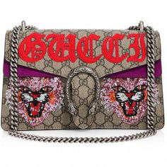 cdc1891064b Gucci Dionysus Embroidered GG Supreme Shoulder Bag ( 3