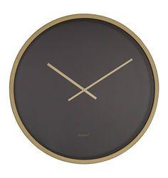 Zuiver+-+Time+Bandit+Vægur+-+Sort/messing+-+Ø60+-+Stilfuldt+og+charmerende+vægur+fra+Zuiver.+Time+Bandit+ur+har+en+sort+skive,+der+sammen+med+kanten+og+viserne+i+messing,+giver+uret+et+elegant+udtryk.