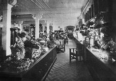 Interior of Finney Isles and Co Department Store in at 196 Queen St,Brisbane,Queensland. Brisbane Queensland, Wooden Cabinets, The Old Days, Department Store, Old Photos, New Zealand, Victorian, Edwardian Era, Past