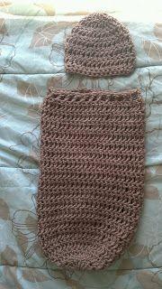 Free Crochet Pattern- Newborn Cocoon and Hat free pattern baby thinCrochet baby hats and blankets