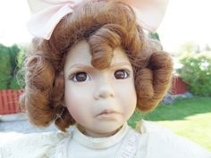 Porcelain Doll Dianna Effner Little Girl with a Curl 2nd Issue 1991 Mother Goose Series