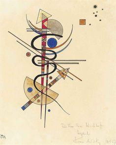 Wassily Kandinsky - Aquarell für Frau Toni Kirchhoff, 1927