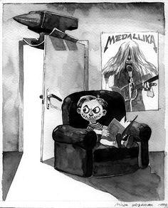 Jeden z satyrycznych rysunków Mirka Urbaniaka zamieszczonych w Życiu Warszawy (opublikowane za zgodą autora)