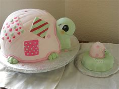 Too cute turtle for a girls baby shower!  Worked perfect with this theme:  http://www.babyshowerstuff.com/pink-turtle-babyshower-theme.html