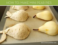 Mini Pear Pies    credit: Share My Kitchen [http://sharemykitchen.com/recipes/my-recipes/starters-and-appetizers/mini-pies-with-pears-and-blue-cheese/]