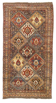 Persian Qashqa'i rug, circa 1900 - a truly supurb piece.. Super fine for nomadic