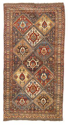 Persian Qashqa'i rug, circa 1900 - a truly supurb piece.. Super fine for nomadic