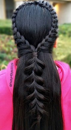 Braided back hairstyle inspiration