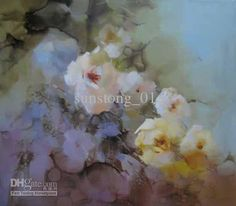Abstract Color Impression Flowers Oil Painting High Quality Hot ...