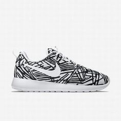 brand new 1a51e fd819  70.03 nike roshe one print black,Nike Womens White Black White Roshe One  Print Shoe. Nike Air Force ...