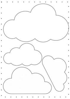 how to make felt rainbow baby nursery mobile Felt Crafts, Diy And Crafts, Crafts For Kids, Paper Crafts, Cloud Template, Balloon Template, Moldes Para Baby Shower, Cloud Party, Clouds Pattern