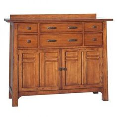GS Furniture GS Furniture AC35445S1SN Bungalow Small Server Sideboard Sideboards & Servers