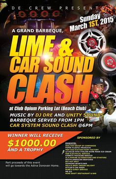 Today March 1st | A GRAND BARBEQUE LIME & CAR SOUND CLASH @ CLUB OPIUM PARKING LOT #Tortola #BVI