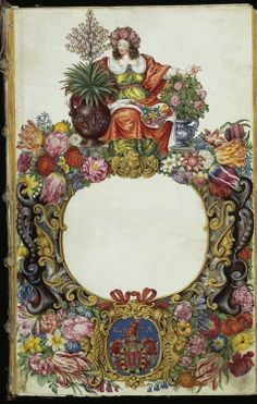 The frontispiece of an early German illustrated book on plants, Horti Anckelmanniani. (1664-1671)  +