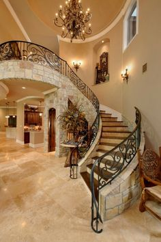 Building a new custom home or completely remodeling your homes interior? Why not go all out and design your own staircase? There are so many different options when designing and building a custom staircase. From rare and unique types of Entryway Stairs, Entryway Decor, Staircase Design, Staircase Ideas, House Goals, Stairways, Home Interior Design, Lobby Interior, Kitchen Interior