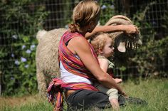 Natalie: Now this makes me want to cry.  Roanie, (last baby, last boy) with my favorite Angora buck, Clyde. Taken at my Namaste Farms home circa 2008.