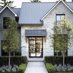 Modern Italian farmhouse showcases stunning interiors in Dallas Italian Farmhouse, Modern Farmhouse Exterior, Modern Farmhouse Style, Farmhouse Homes, Rustic Italian, Farmhouse Design, Stone Exterior Houses, Dream House Exterior, Stone Houses