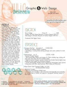 As A Graphic Designer You Canu0027t Just Use Any Old Resume Template For  Yourself.