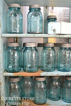mason jar collection | photo taken by Lucketts Store