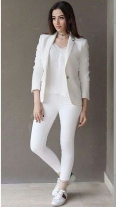 Sana javed looks stunning in white for mvlu promotions
