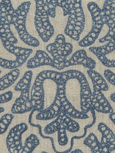 Robert Allen #fabric Sammi Rose in #Indigo. #BosDesignMarket