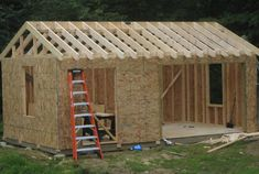 Would you like to have your own shed around your home? Here, I would like to give you several free shed plans that will help you with your DIY shed project and information about how to build a shed with a scratch. Diy Storage Shed Plans, Wood Storage Sheds, Wood Shed Plans, Free Shed Plans, Shed Building Plans, Wooden Sheds, Building Ideas, Man Cave Shed Plans, Firewood Storage