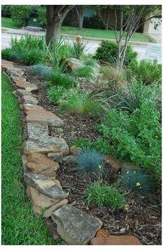 Landscape Borders, Lawn And Landscape, Landscape Designs, Landscape Architecture, Landscape Edging Stone, House Landscape, Flower Landscape, Landscape Steps, Landscape Front Yards