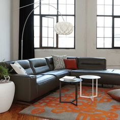 Kasala - Modern affordable 4 piece leather sectional - Modern furniture seattle