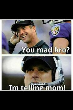Hahaha! brother vs. brother in 2013 superbowl
