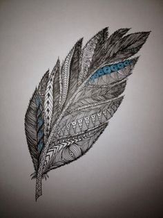 Original feather artwork by BeOneCreations on Etsy, $15.00