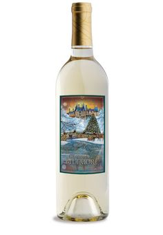 Christmas at Biltmore White Wine 2014 Label by artist Terry Owensby of Swannanoa, NC.   A semi-sweet white wine with flavors of apricot, spice and citrus.